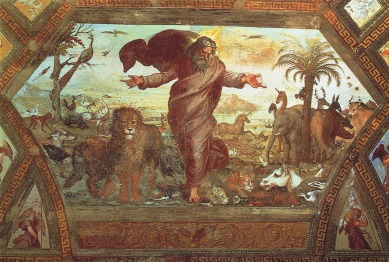 Raphael-+God+creates+the+animals+(including+an+Unicorn)+rome+vatican+-+flickr-petrus.agricola
